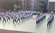 弘扬体育精神    传承闽南文化  ——我校开展2017年秋季五祖拳操比赛